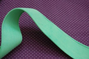 green cotton webbing