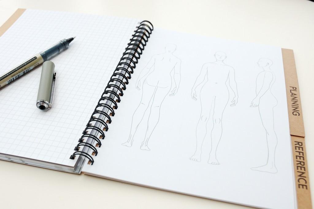 Croquis for garment design