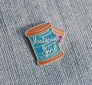 Material Girl enamel pin