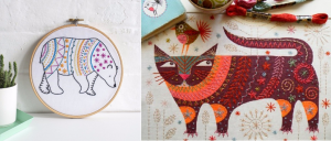 Emboidery kits make great Christmas gifts for people who enjoy sewing