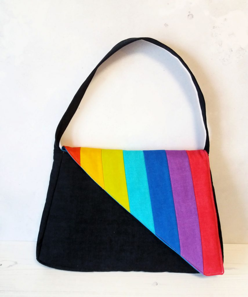 Rainbow bag pattern drafted with Patterntrace