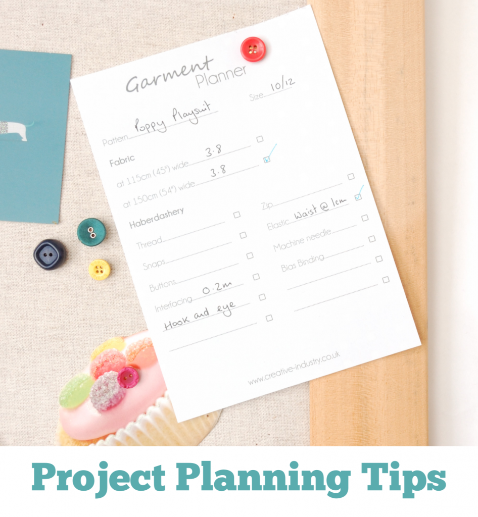 Tips for planning your next sewing project