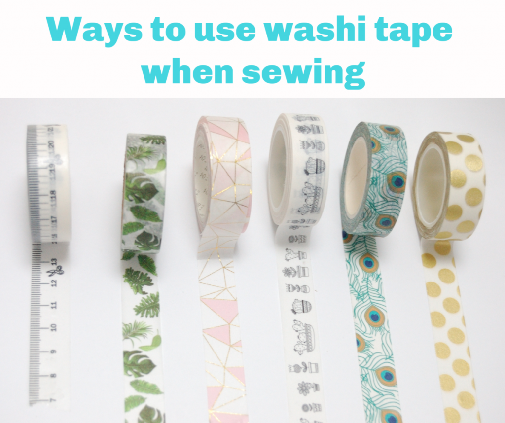 Ways to use washi tape when sewing