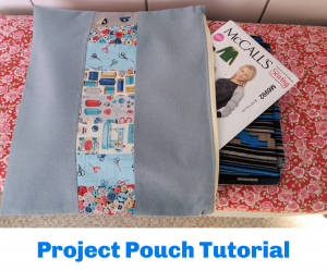 Project pouch free sewing pattern