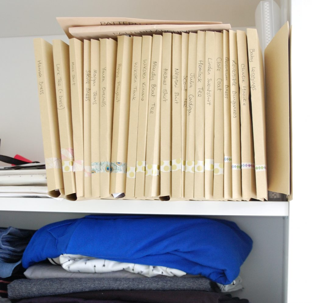 sewing pattern storage (1