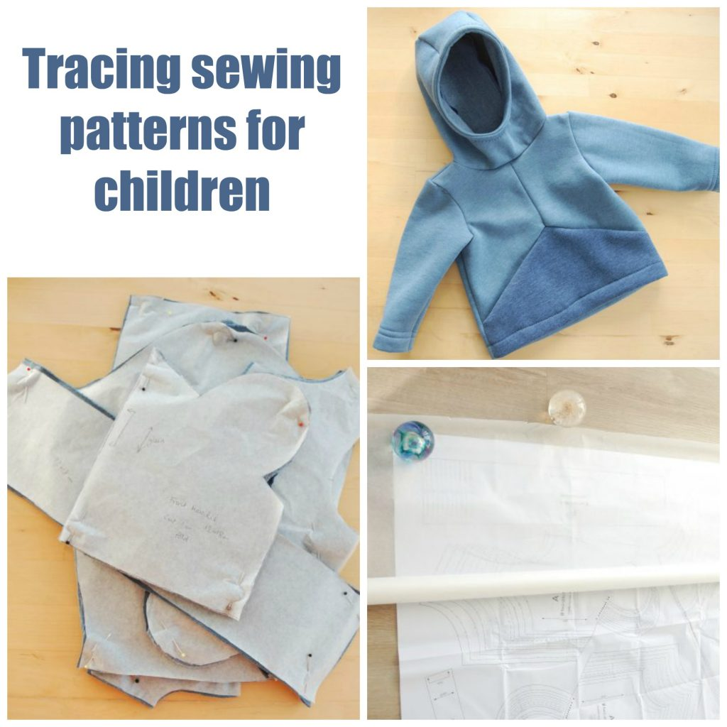 Tracing sewing patterns for kids