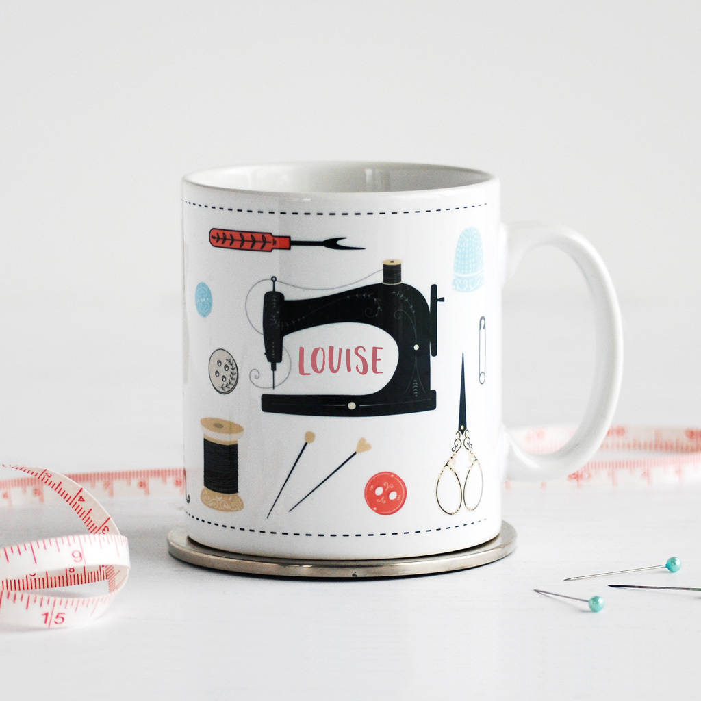 Sewing mug with your name on