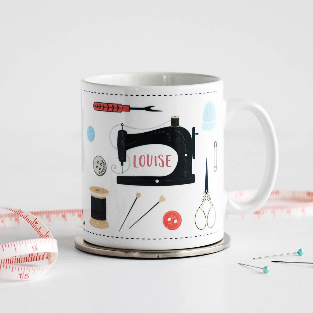 Sewing mug with your name on