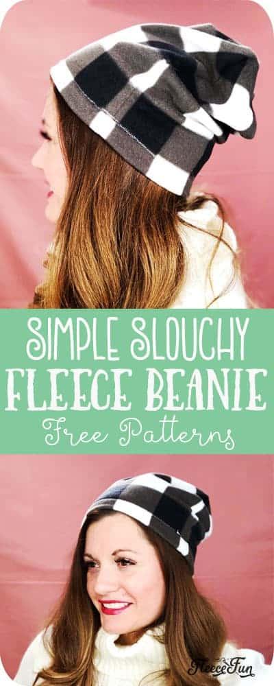 Free fleece beanie hat sewing pattern