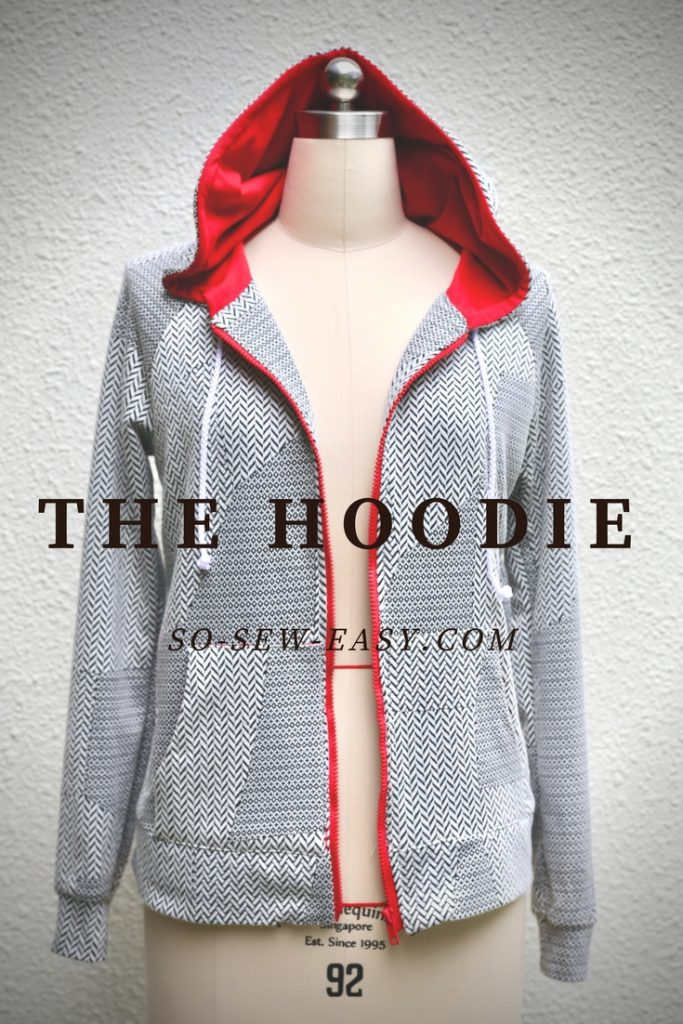 Free zip up hoodie sewing pattern