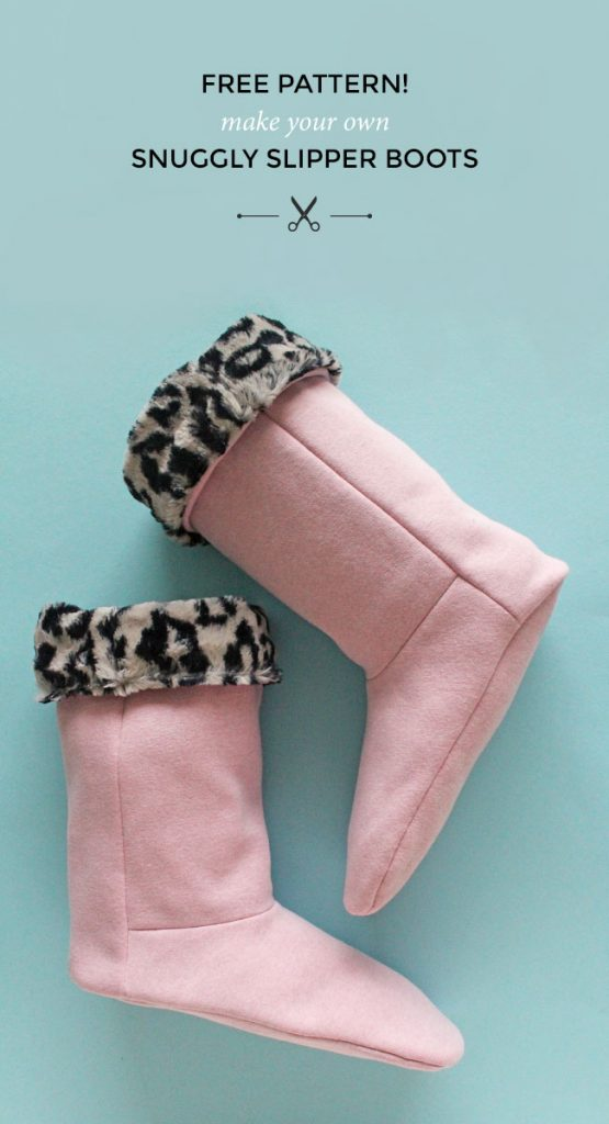 Free snuggly slipper boot sewing pattern