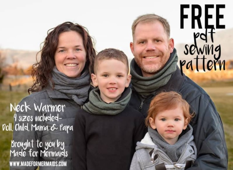 Free cowl sewing pattern for all the family