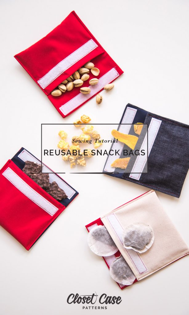 Eco-friendly plastic free snack bags sewing project