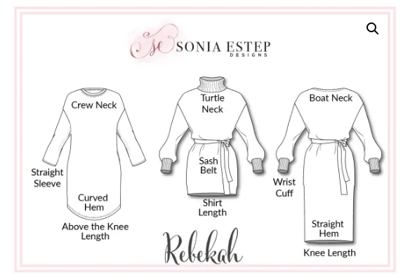 rebekah sewing pattern