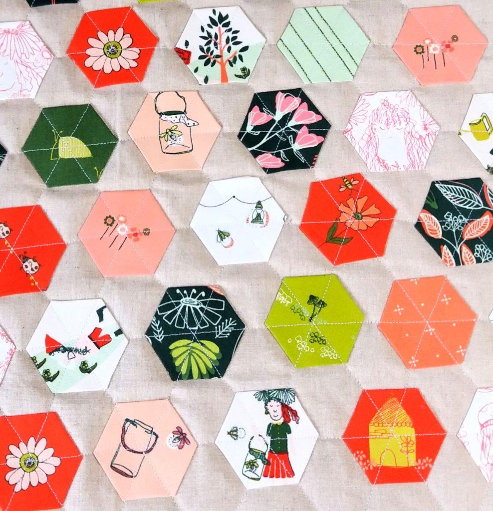 Fussy cut hexagons