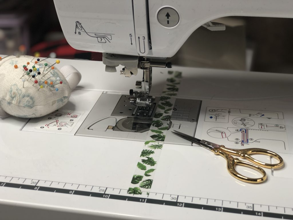 Using washi tape on your sewing machine