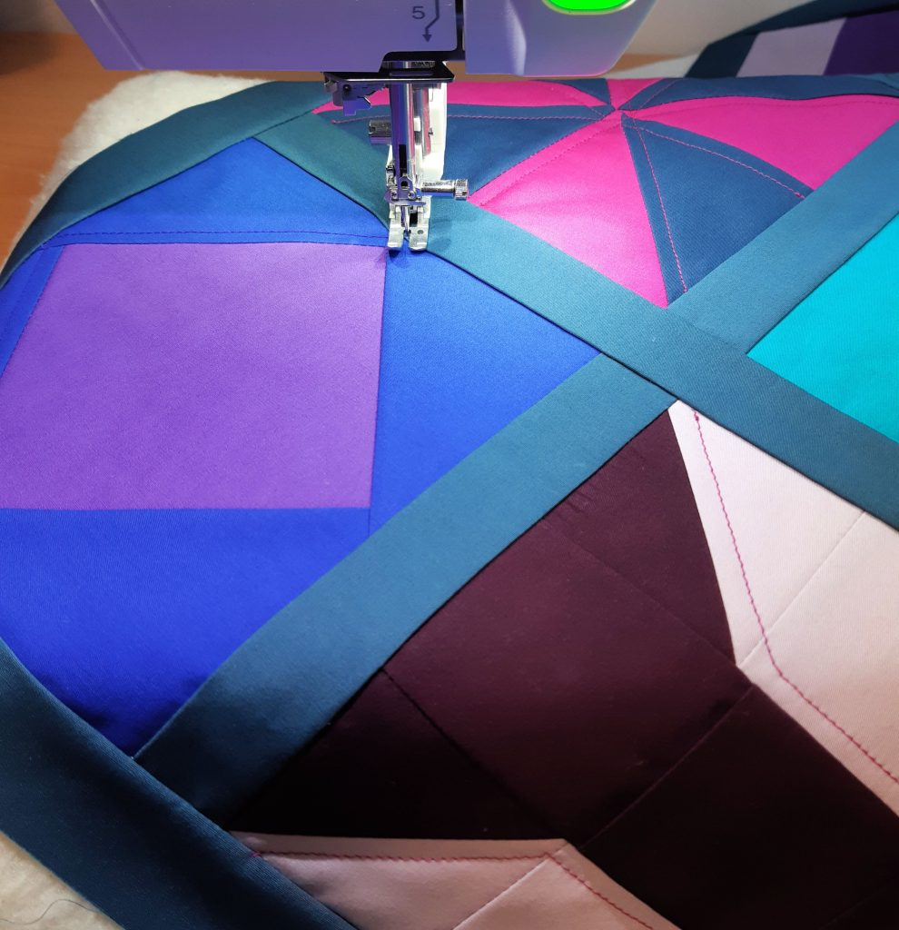 Quilting with a sewing machine