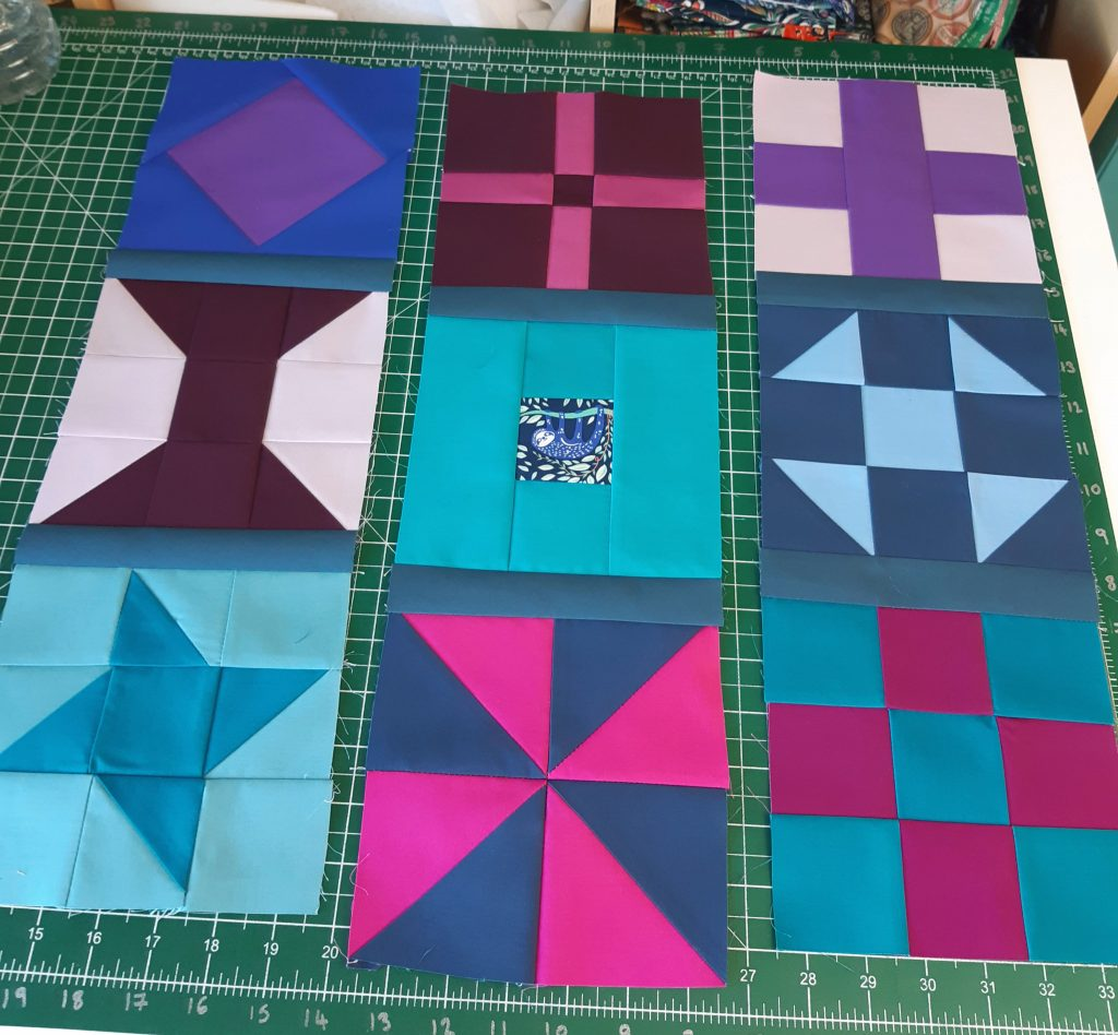 Adding ashing to a patchwork cushion
