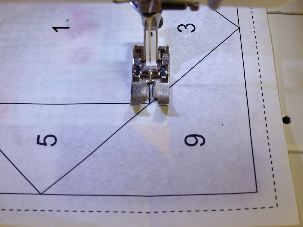 Small stitching for foundation piecing