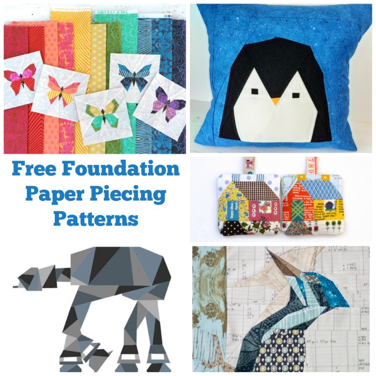 Free patterns for foundation paper piecing