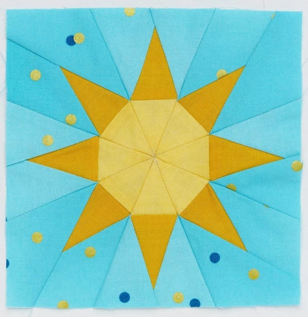 Free weather themed foundation pieced quilt blocks