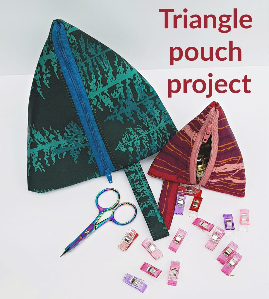 How to sew a triangle pouch