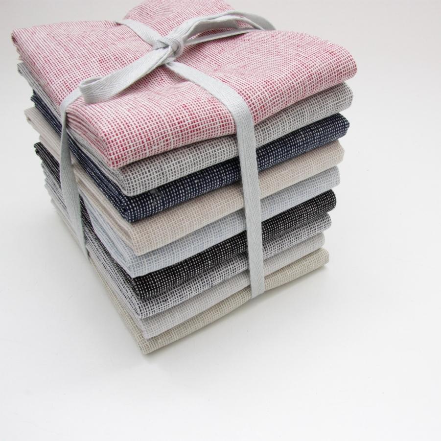 Homespun linen fabric bundle