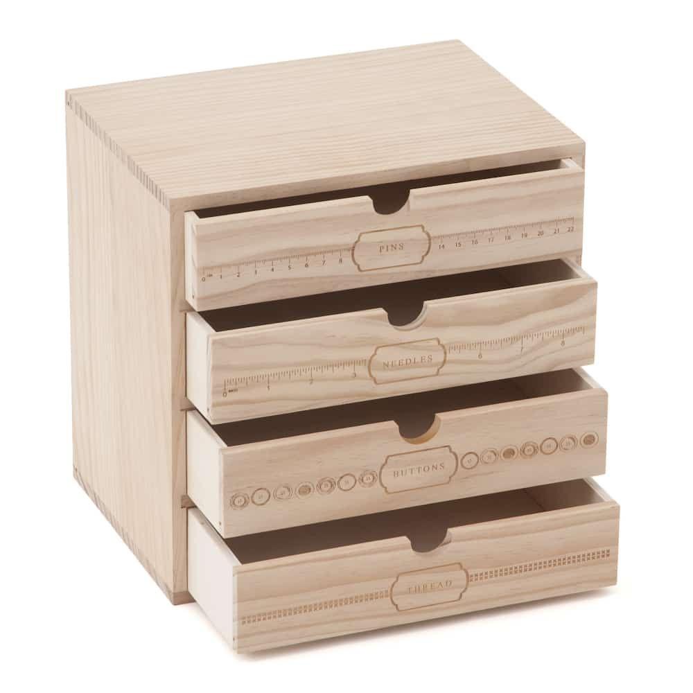 Sewing storage drawers