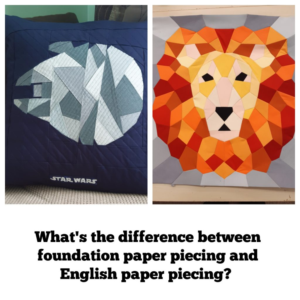 What is the difference between foundation piecing and English paper piecing?