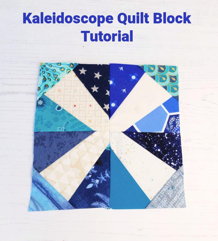 Kaleidoscope quilt block tutorial