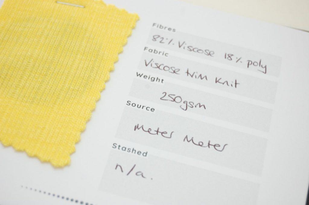 How to log your fabric stash