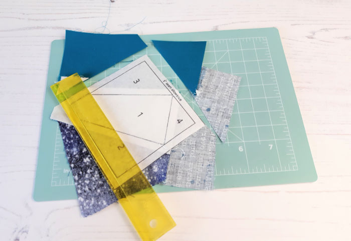 How to trim a quilt block
