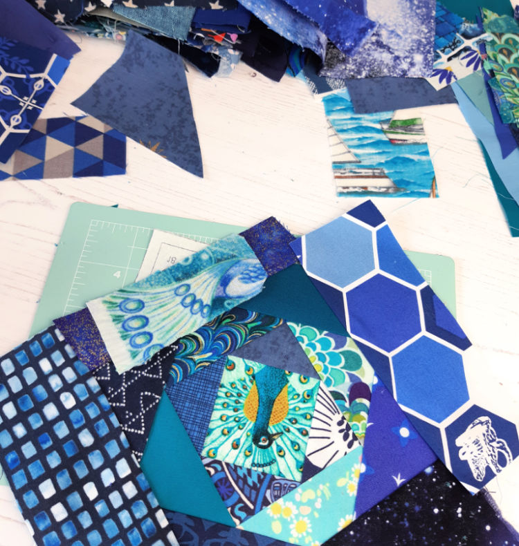 Beginner's foundation paper piecing quilt block