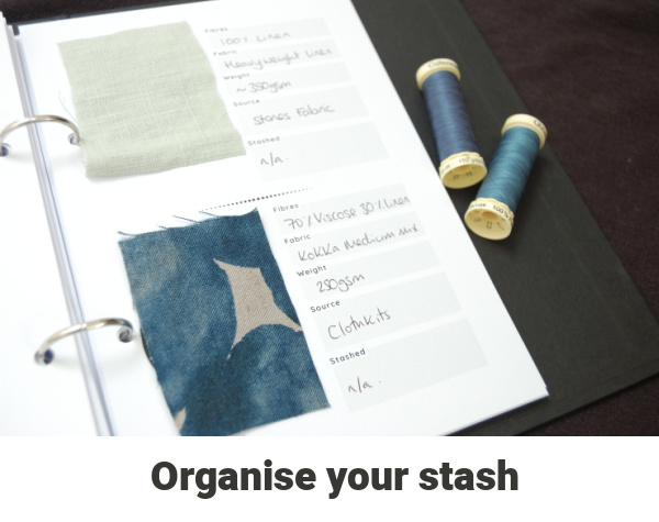 how to organise your fabric stash