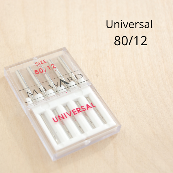 Universal sewing machine needle 80_12