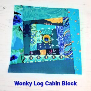 How to make a wonky log cabin block