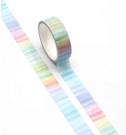sewing rainbow washi tape