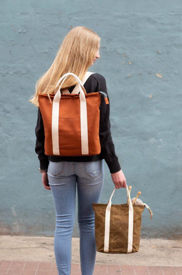Buckthorn tote backpack sewing pattern