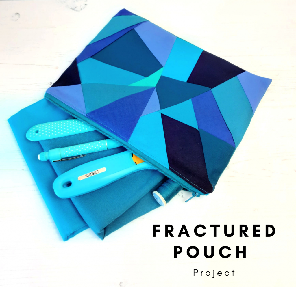 Free foundation pieced pouch project