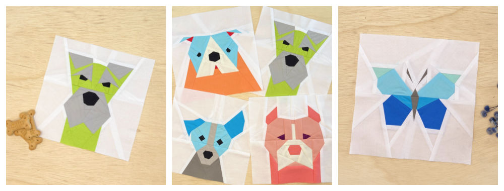 cute dog themed foundation pieced patterns