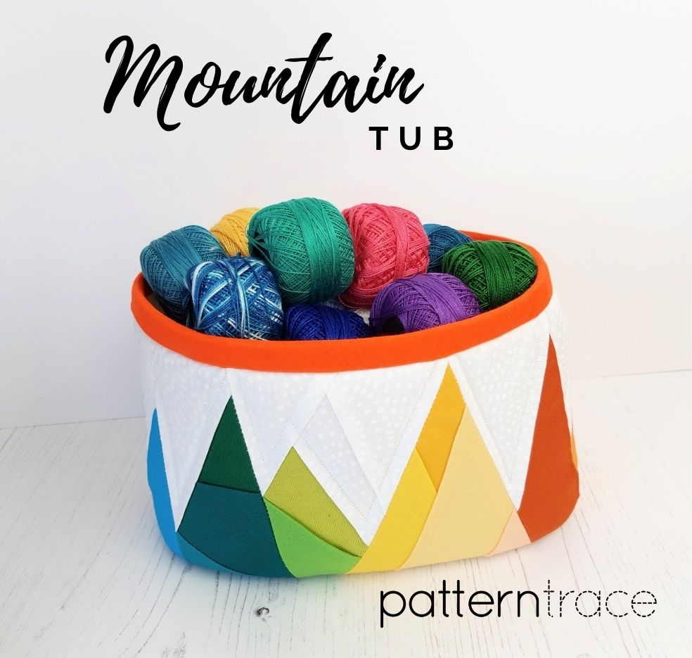 free rainbow mountain foundation paper piecing pattern